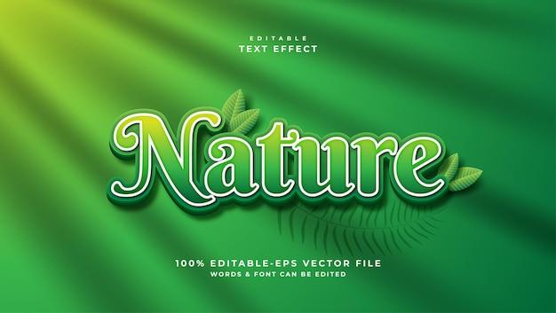 녹색 자연 텍스트 효과