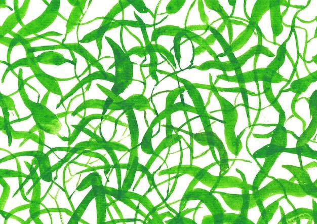 Зеленая природа акварельное искусство и фон