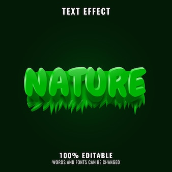 Green nature with grass text effect