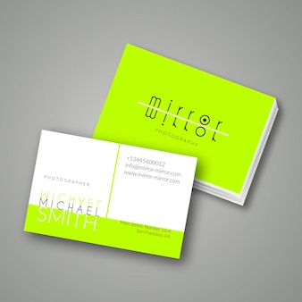Green neon business card