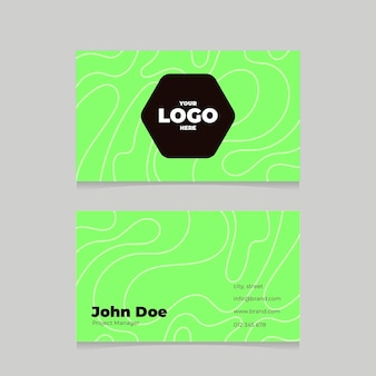 Green neon business cards