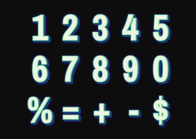 緑の数字セット