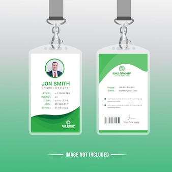 Green Office ID Card Template
