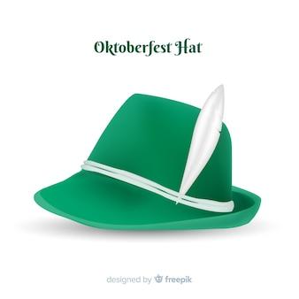 Green oktoberfest hat background