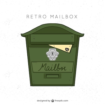 Green old mailbox background