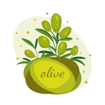 Green olive branches.