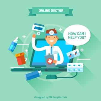 Зеленый дизайн интернет-врача