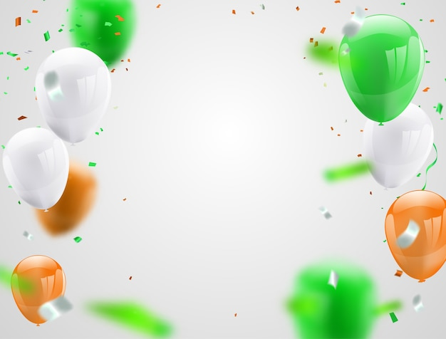 Green orange balloons