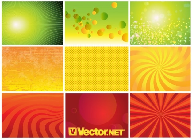 Green, orange and red assorted backgrounds