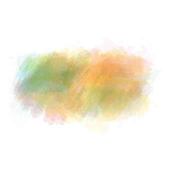 Green and orange watercolor painted vector stain isolated