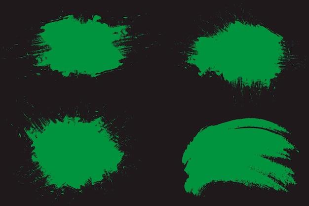 緑の塗られたグランジ抽象的な背景
