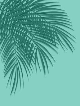 緑のヤシの葉のベクトルの背景図。 eps10