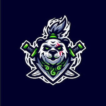 Зеленая панда киберспорт логотип