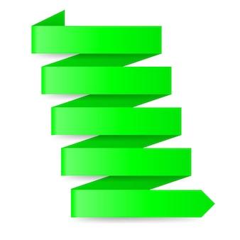 緑の紙の矢印