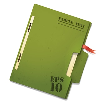 Green paper file,