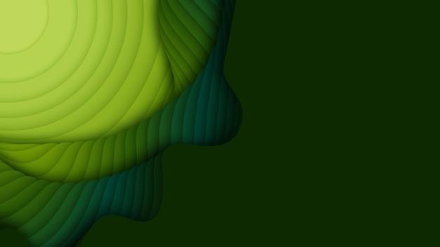 Слои зеленой бумаги