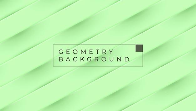 Зеленый пастельный геометрический фон цветовой вектор дизайн