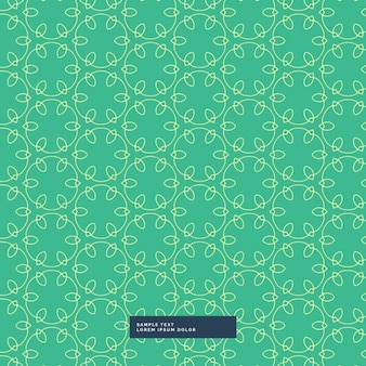 Green pattern with decorative leaves