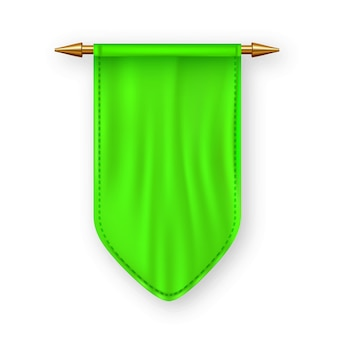 Green pennat flag