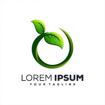 Green plant leaves logo design