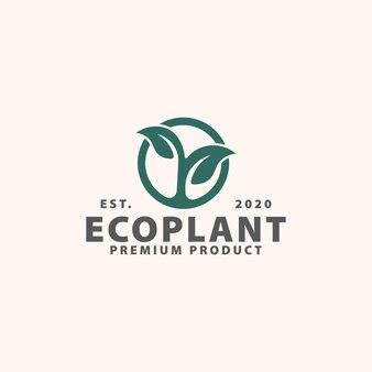 緑の植物のロゴのテンプレート