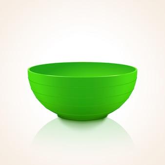 Зеленая пластиковая миска
