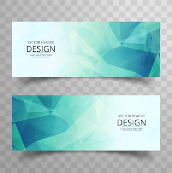 Green polygonal banner design
