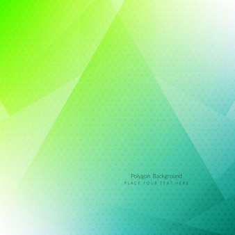 Green polygons dotted background