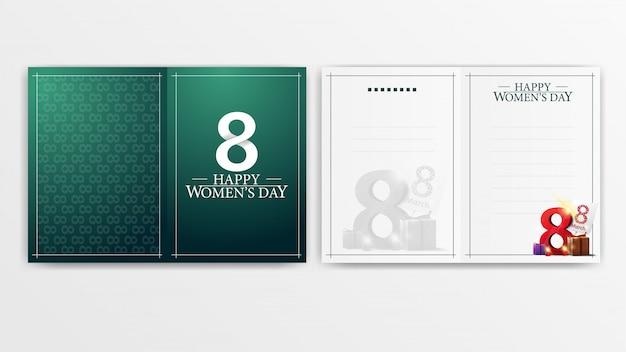인쇄 준비가 된 여성용 녹색 엽서
