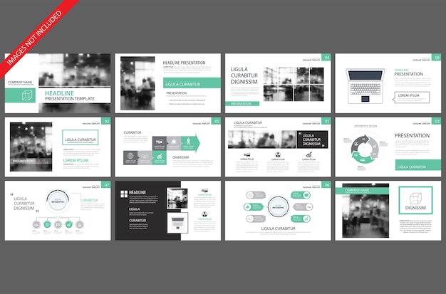 Green presentation templates