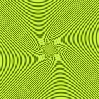 Green radiant background with circular swirl, helix or twist