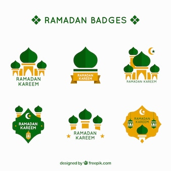 Green ramadan label collection