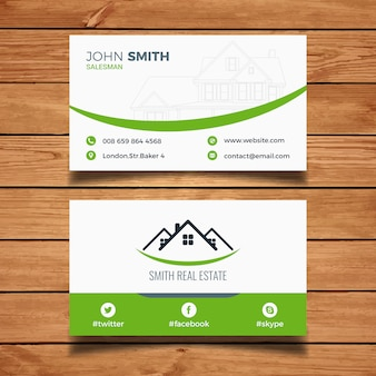 Real estate business card vectors photos and psd files free download green real estate business card reheart Choice Image