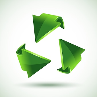 Green recycling arrows,