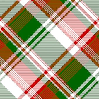 Green red bright check fabric texture seamless pattern