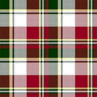 Green red check plaid texture seamless pattern
