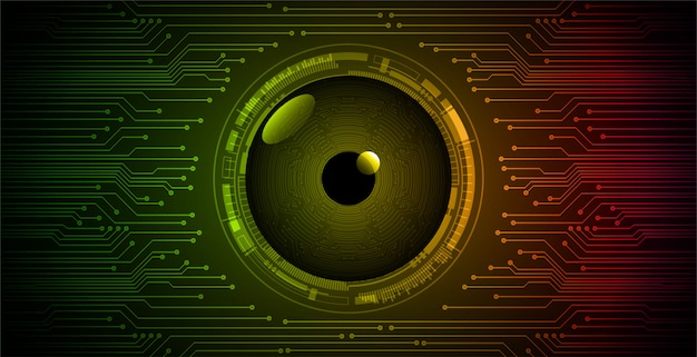 緑赤目サイバー回路将来の技術コンセプトの背景