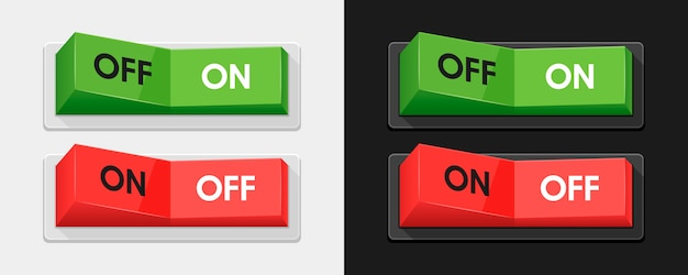 Green and red power switches