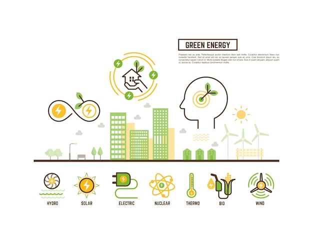 Green and renewable energy concept