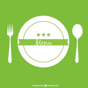 Green restaurant menu background