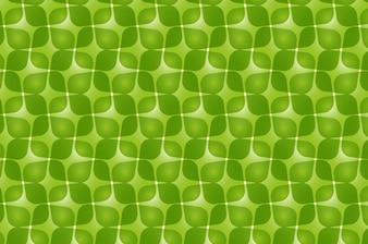 Green retro vector pattern design
