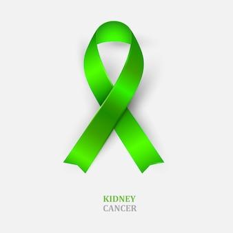 緑のリボン-腎臓がんの意識