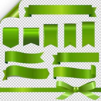 Набор зеленых лент