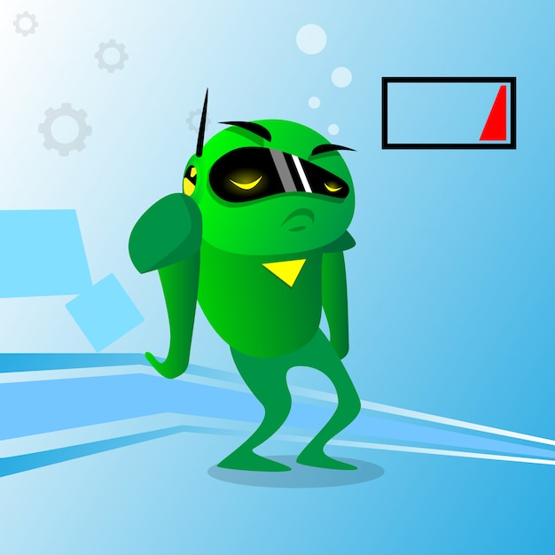 Green robot charge problem no energy