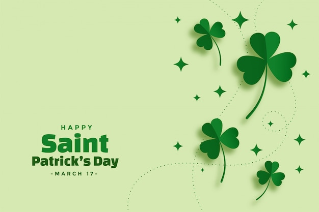 Green saint patricks day festival elegant banner