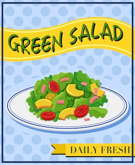 Green salad on menu