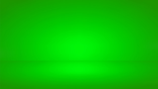 Green screen studio background. empty room with spotlight effect.