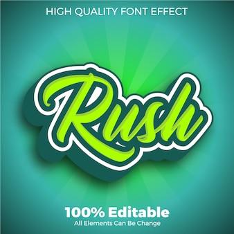 Зеленый текстовый стиль шрифта редактируемый эффект шрифта