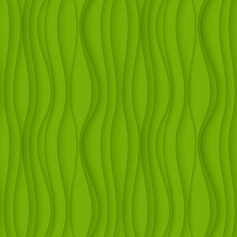 Зеленый бесшовный волнистый фоновой текстуры.