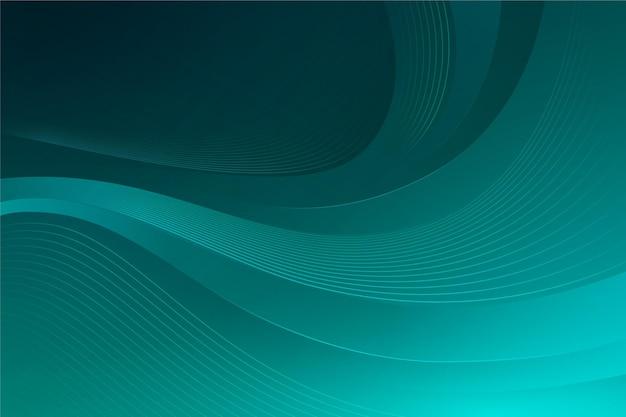 緑の色合いの波状の背景